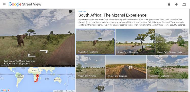 Street View sai do asfalto e registra os caminhos de um safári africano