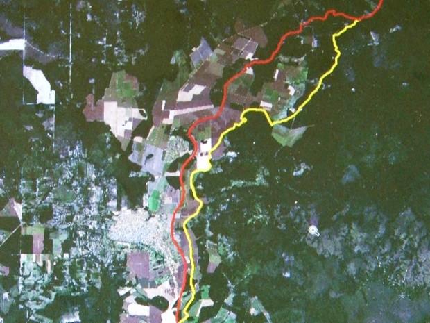 O mapa dos limites dos estados de Rondônia e Mato Grosso irá mudar