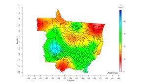 Mapa de chuvas Mato Grosso
