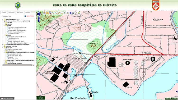 Exército disponibiliza as Cartas Topográficas para os Jogos Rio 2016
