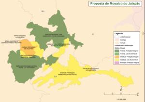 mapa de unidades de conservaçao