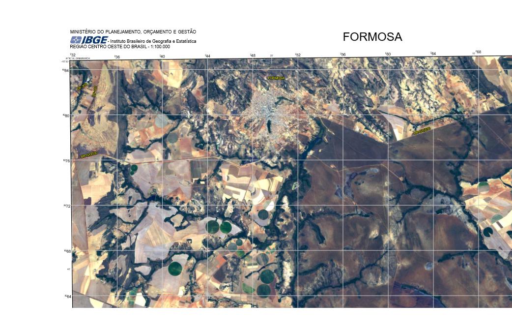 IBGE disponibiliza cartas imagem do Piauí, Tocantins, Pará, Maranhão e Mato Grosso