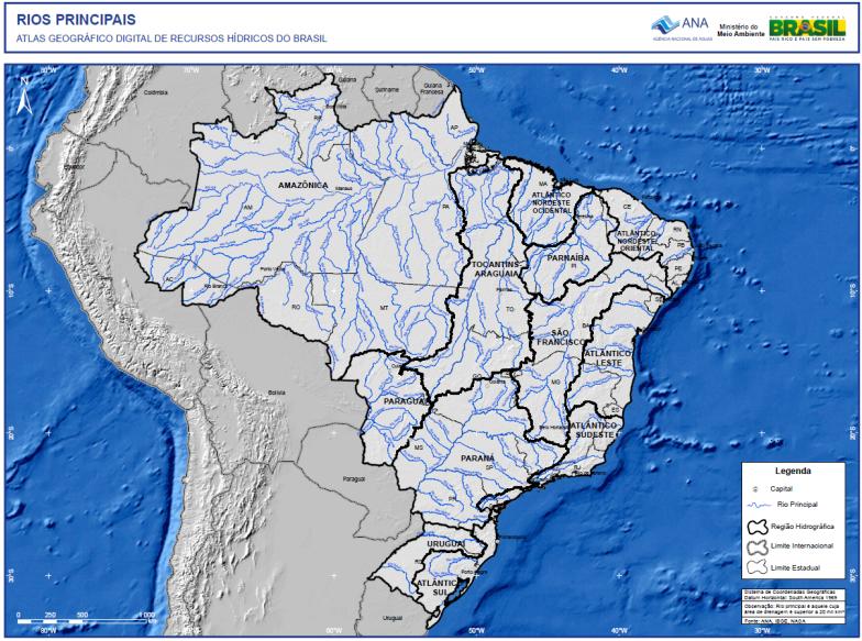 Portal da ANA recebe novas bases cartográficas das bacias do rios Parnaíba e Uruguai