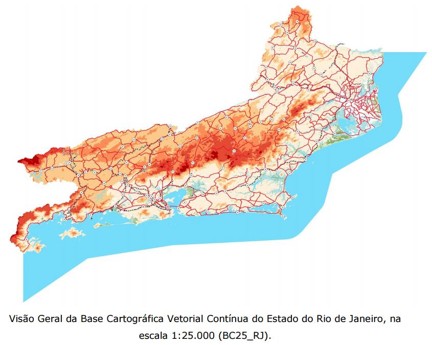 IBGE lança base cartográfica vetorial do Estado do Rio de Janeiro