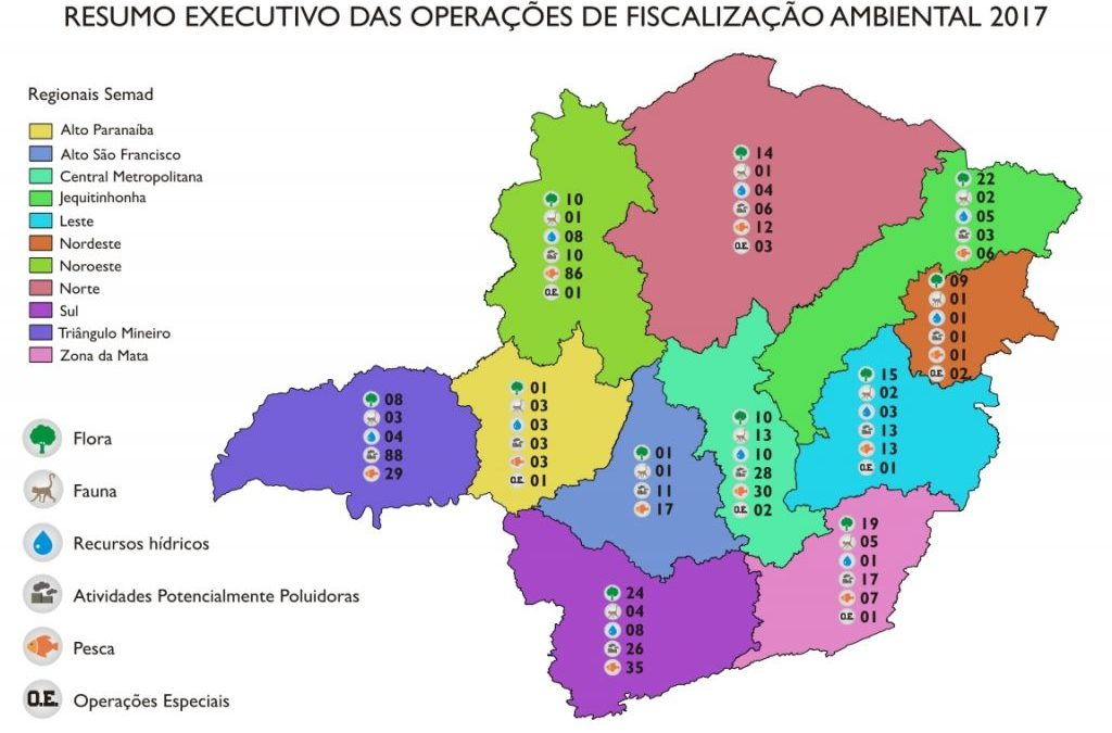 Governo apresenta o mapa da fiscalização ambiental em Minas Gerais