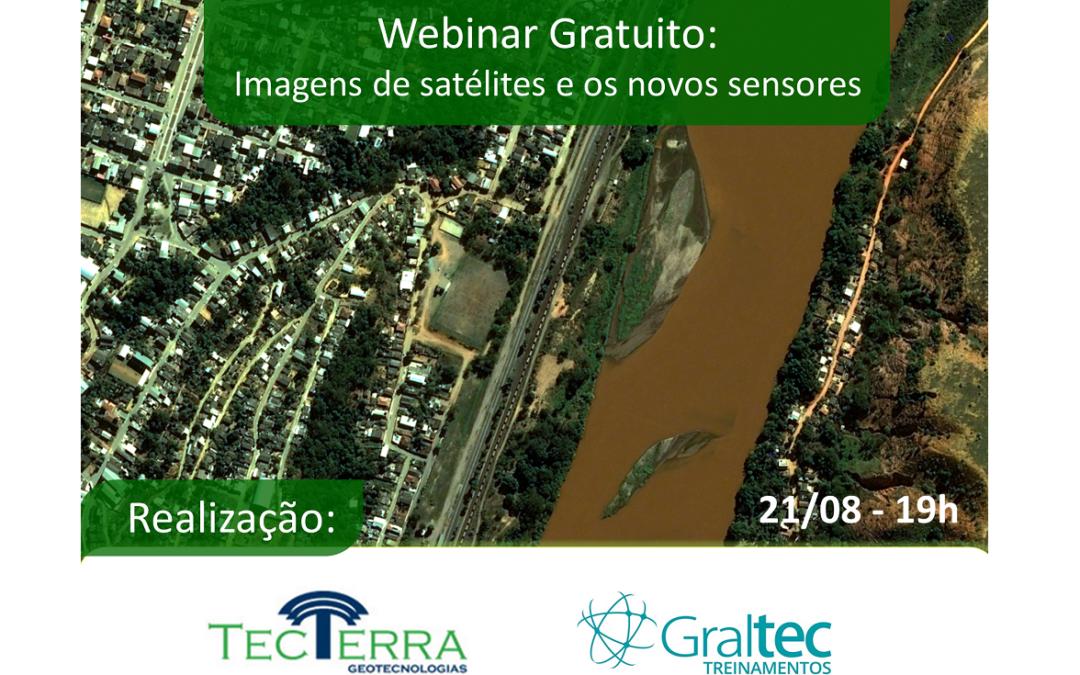 Webinar gratuito: Aplicações de imagens de satélite e os novos sensores do mercado