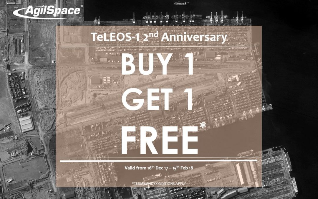 Adquira imagens de acervo e receba também uma imagem de programação do TeLEOS-1