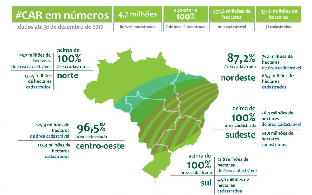 Estados e DF iniciam análise do Cadastro Ambiental Rural