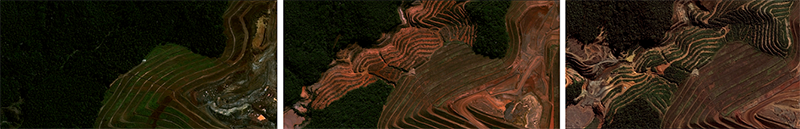 Monitoramento de expansão de cava de mineração - Mariana, MG