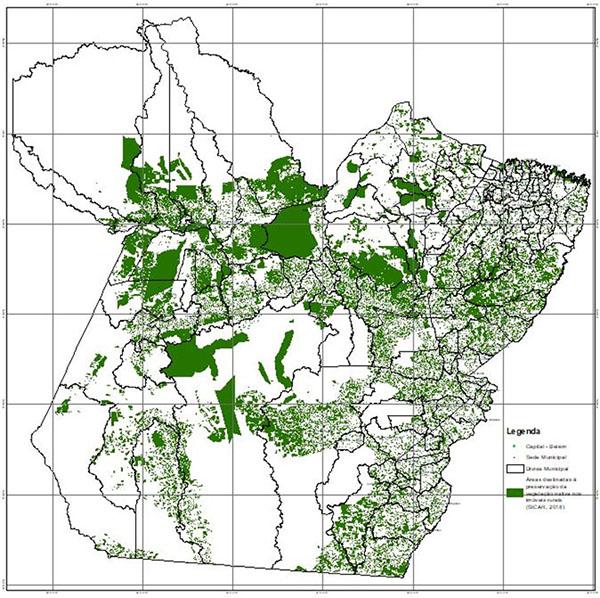 Cadastro Ambiental Rural (CAR) revela dados de preservação no Pará