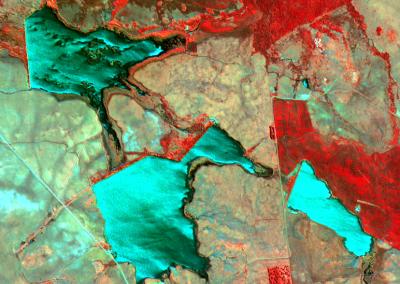 Segurança de Barragens - KOMPSAT-2 (Infravermelho) -  Alegrete, RS