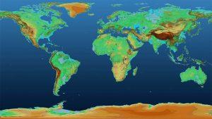 mapa mundi em 3D
