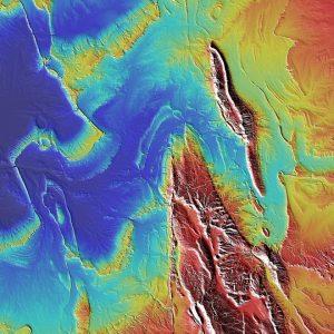 modelo digital elevaçao mapa 3d