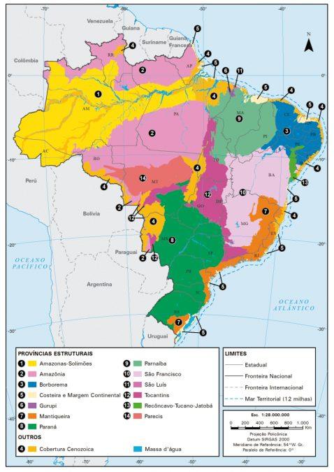 IBGE lança a Macrocaracterização dos Recursos Naturais do Brasil