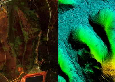 Segurança de Barragens - Imagem de Satélite e  MDT AW3D. Juiz de fora - MG