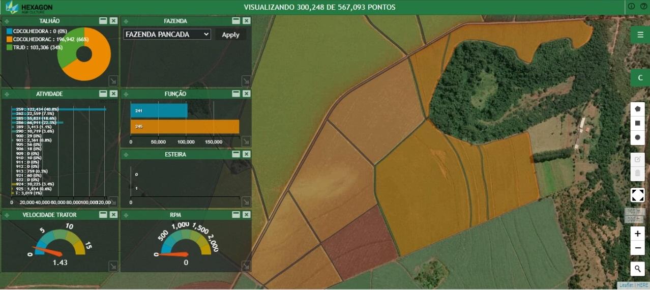 Plataforma M.App da Hexagon em aplicação para o Agronegócio