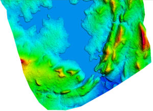AW3D Topografia para estudos de barragem