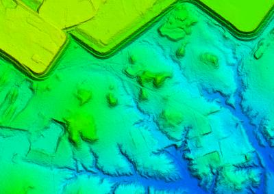 modelo digital de terreno - Topografia para estudos de barragem